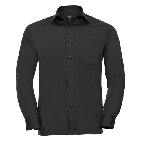 Russell Long sleeve polycotton easycare poplin shirt