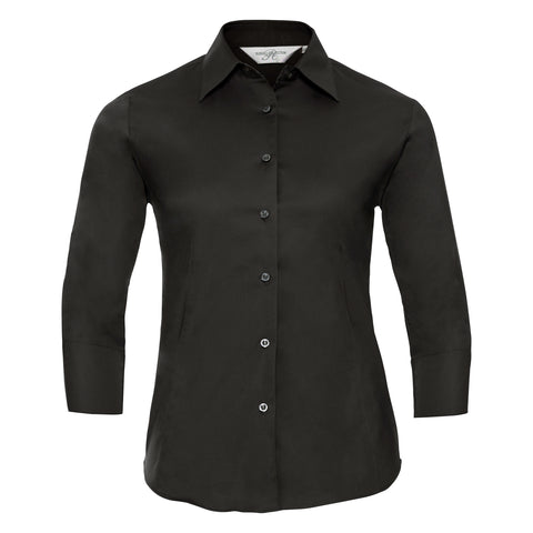 Women's ¾ sleeve easycare fitted shirt