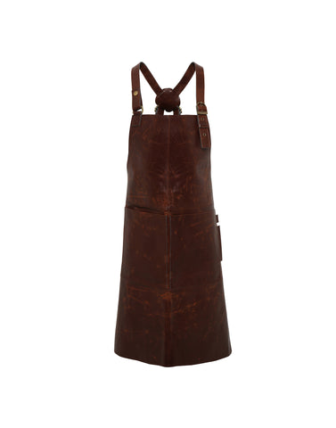 Premier Artisan real leather cross back bib apron