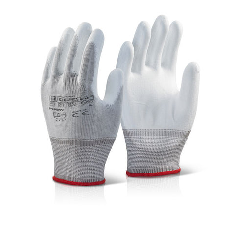 Pu Coated Glove White