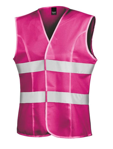 Result Women's hi-viz tabard in Fluorescent Pink - 121 Workwear - Personalised Workwear