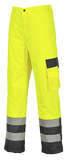 Portwest Hi-Vis Lined Contrast Trousers