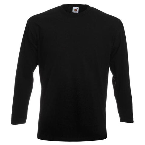Fruit of the Loom Super premium long sleeve tee in Black - 121 Workwear - Personalised Workwear
