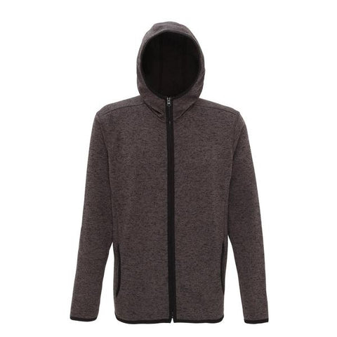 Melange knit fleece jacket