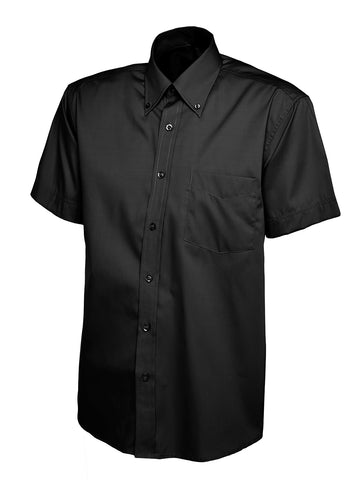UC702 - Mens Pinpoint Oxford Half Sleeve Shirt