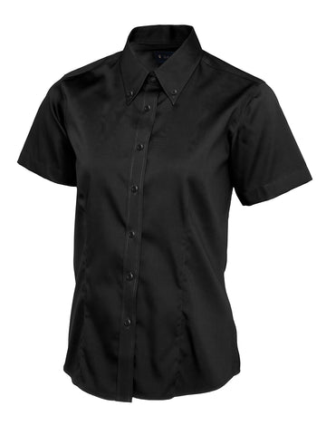 UC704 - Ladies Pinpoint Oxford Half Sleeve Shirt