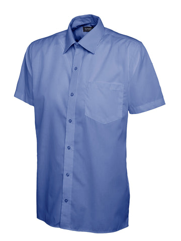 UC710 - Mens Poplin Half Sleeve Shirt