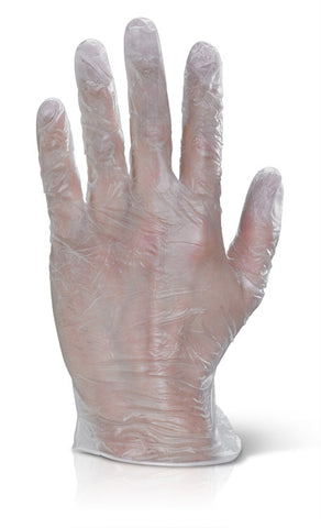 Vinyl Disp Gloves Pf Clear