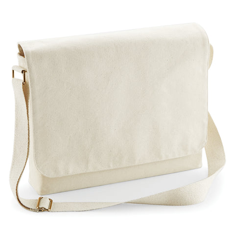 Fairtrade cotton canvas messenger