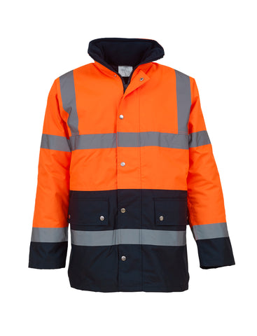 Hi-vis two-tone motorway jacket (HVP302)