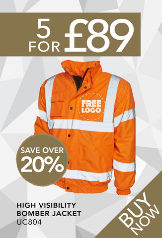 5 for £89 - High Visibility Bomber Jacket