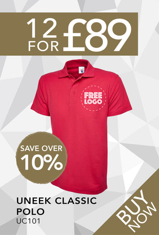 12 for £89 - Uneek Classic Polo