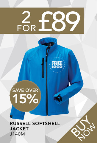 2 for £89 - Russell Softshell Jacket