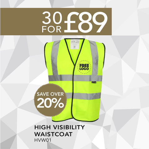 30 For £89 - High Visibility Waistcoat