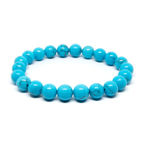 Dyed Blue Howlite - 8mm