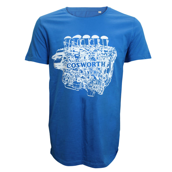 Cosworth Collection Engine Royal Blue T-shirt
