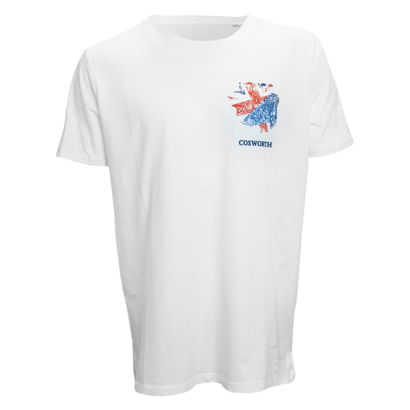 Cosworth Collection Engine White T-shirt 3