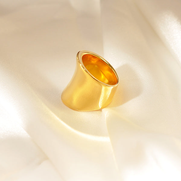 Irregular Gold Wide Band Ring