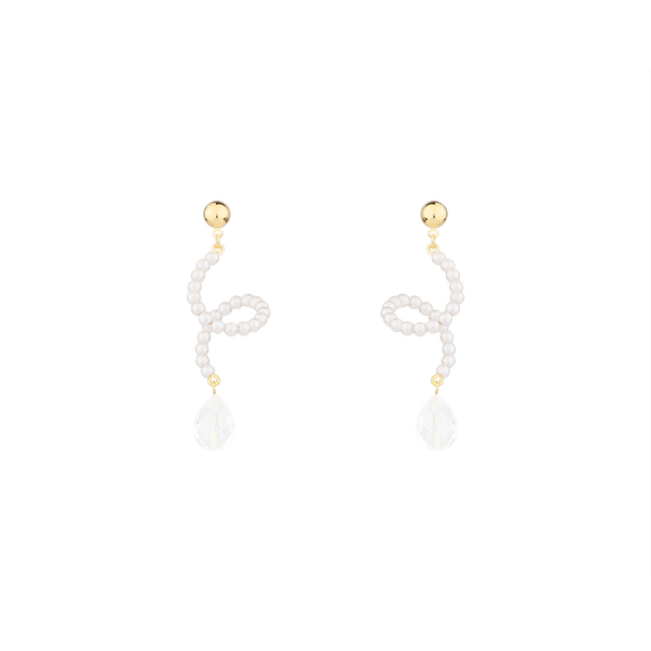 Revolving Pearls with Crystal Drops Earrings