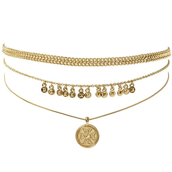 Bohemia Gold Coin Chain Necklace