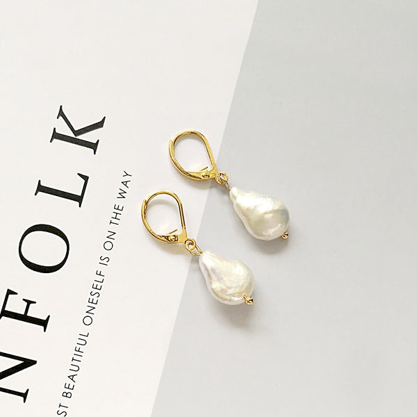 Irregular Freshwater Pearls Earrings