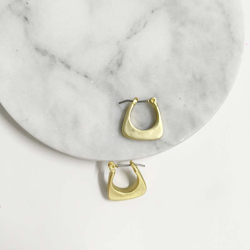 Matte Small Irregular Hoop Earrings