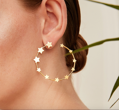 Circle of Stars Hoop Earrings