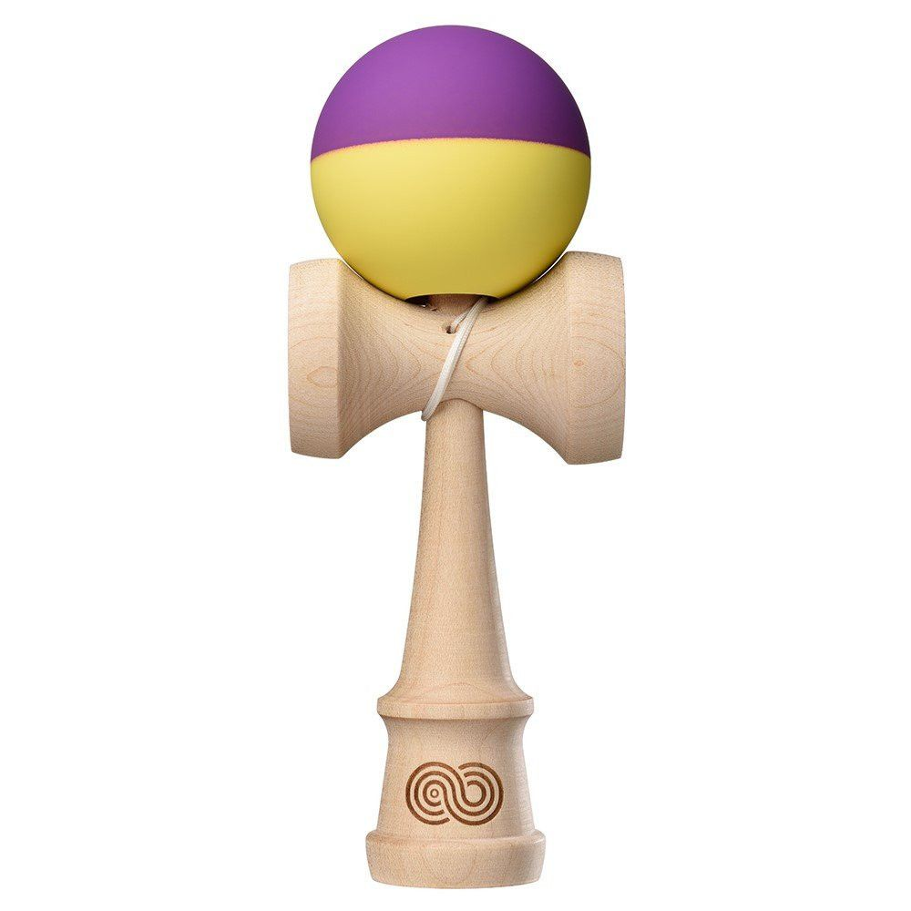 Kaizen 2.0 Half Split Maple - Yellow & Purple - Kendama-Senses Nederland