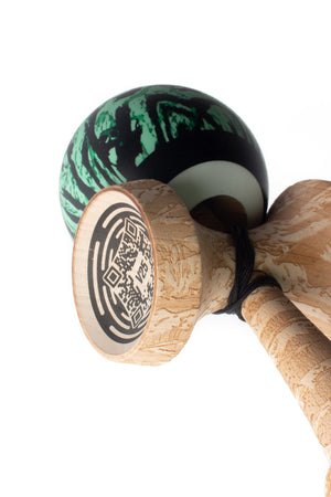 SWEETS LAB - V25 Mint Tigerstripe - Kendama-Senses Nederland