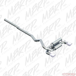 MBRP Cat Back Exhaust Dual Outlet - Ford Focus RS MK3 2016 Onwards
