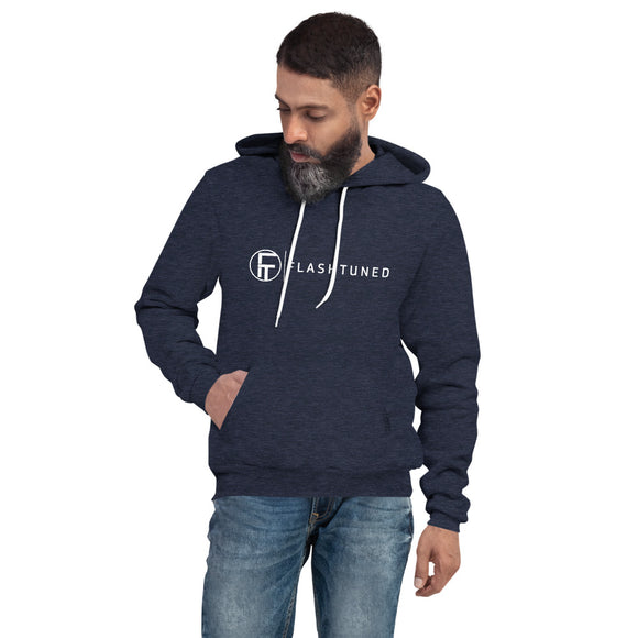 Unisex pullover hoodie heather navy front 6066a8cd33314