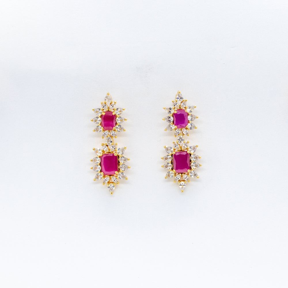 LOLstudio Diamond and Ruby Cocktail Statement Earring LOLSTUDIOA9