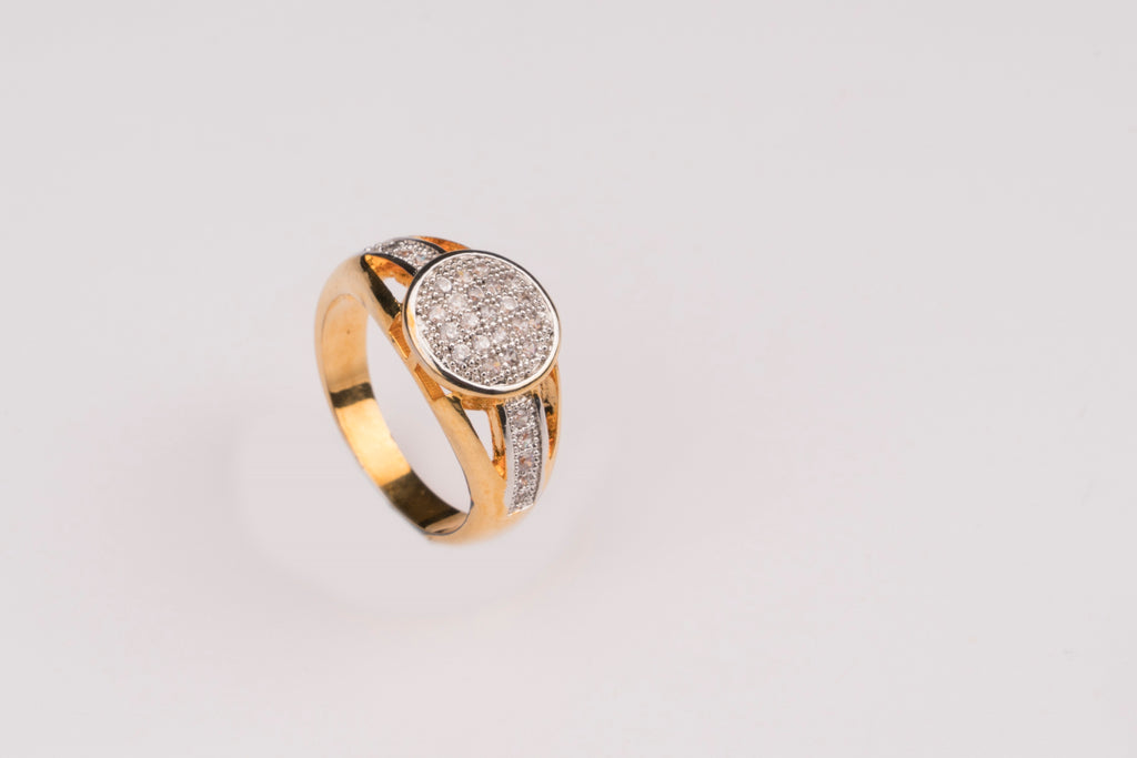 LOLstudio  Zari Gold & Zircon Diamond Ring  LOLSTUDIOA130