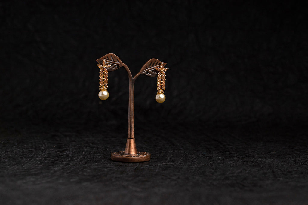 LOLstudio Zircon Stone and Pearl Corporate Earring LOLSTUDIOA177