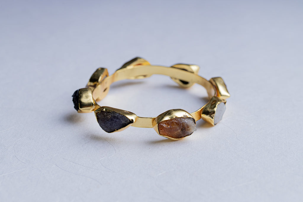 LOLstudio Bohemian Druzy Stone Fashion Fusion Bangle LOLSTUDIOA82