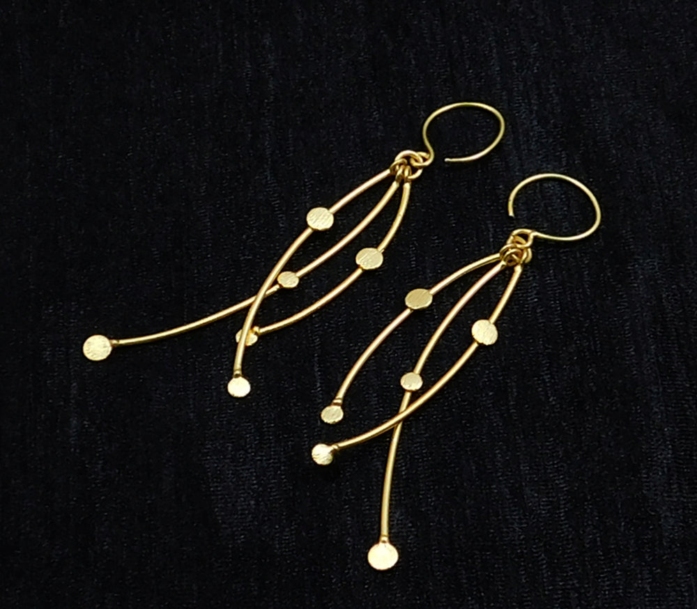 LOLstudio Gold Tone Tribal Bohemian Fusion Fashion Drop Earring LOLSTUDIOA89