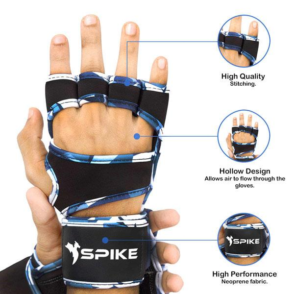 Spike Gym Gloves With Wrist Support for Men and Women - Spike