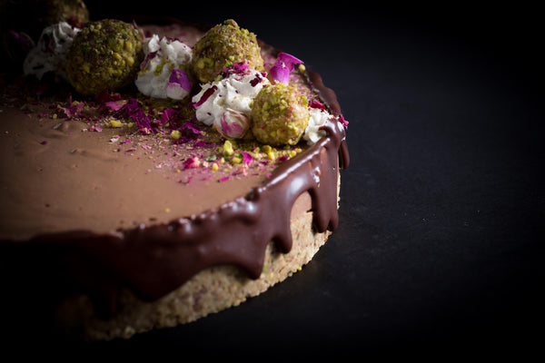 The Chocolate, Pistachio & Rose Torte