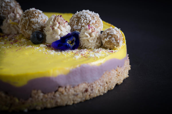 The Blueberry & Lemon Vegan and Gluten Free Cheesecake