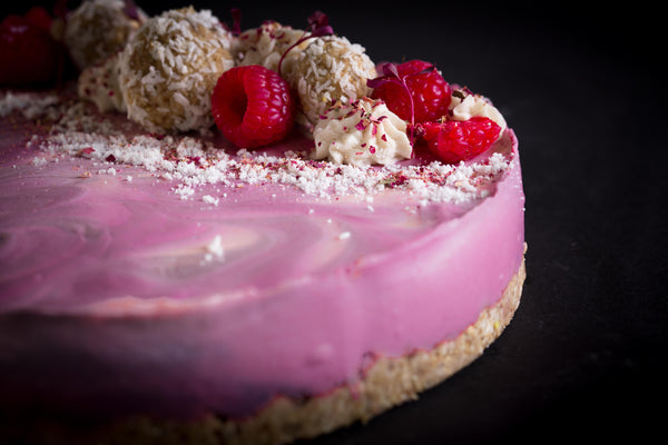 The Raspberry Ripple Vegan and Gluten Free Cheesecake