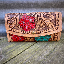 Load image into Gallery viewer, Floral Tooled Wallet/Crossbody