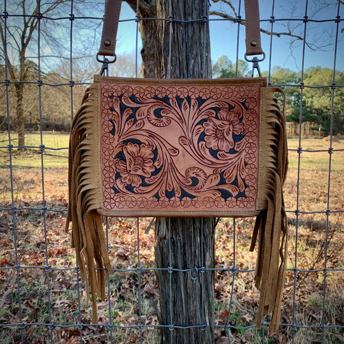 Tooled Crossbody Bag