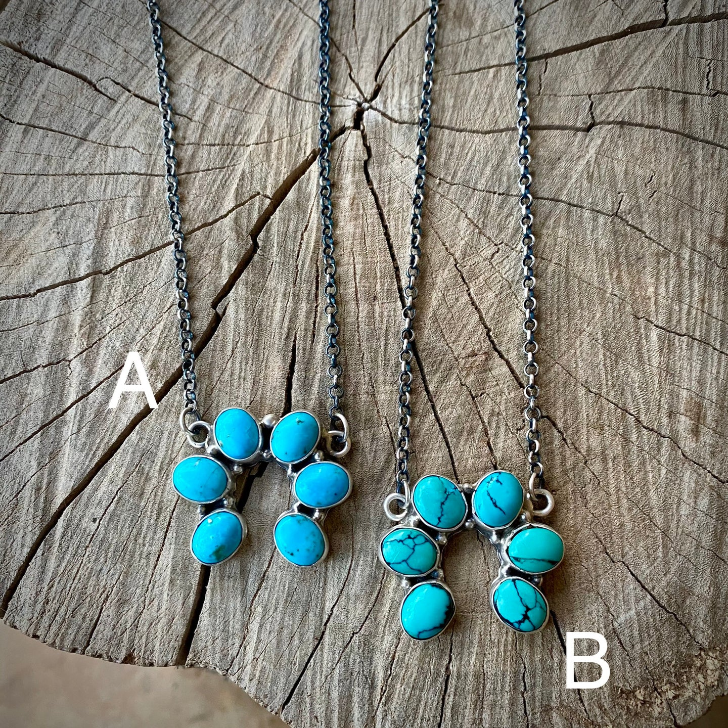 Genuine Turquoise Squash Necklace