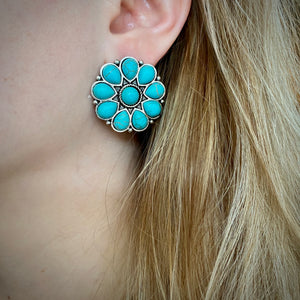 Turquoise Cluster Earring