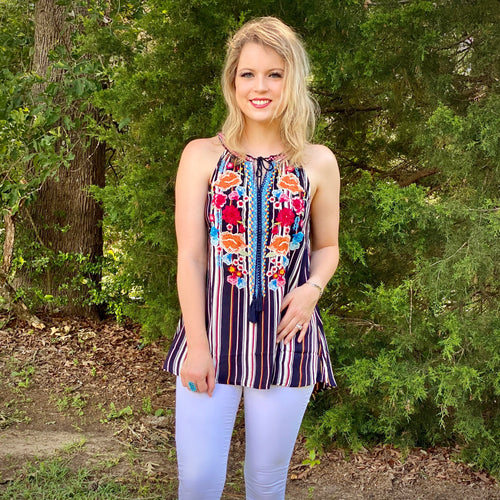 Savannah Embroidered Top