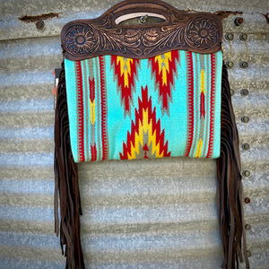 Turquoise Saddle Blanket Clutch