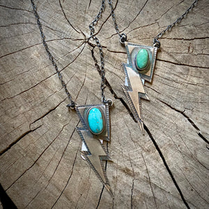 Authentic Turquoise Lightning Necklace