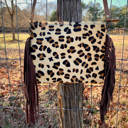 Hair on Hide Leopard Crossbody
