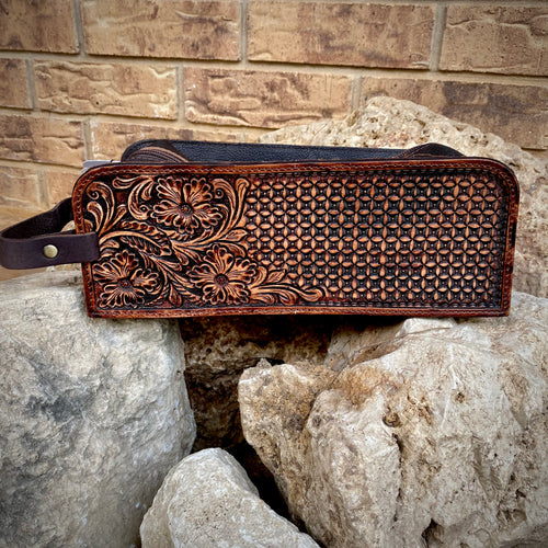 Tooled Toiletry Bag