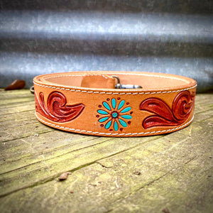 Cluster Tooled Purse Strap